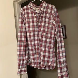 Long sleeve button down shirt.